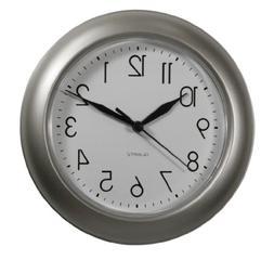 "ITC (32000-NI-DB 8"" Brushed Nickel Round Clock"