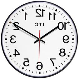 "Infinity Instruments Prosaic Business Round Wall Clock, 12"","