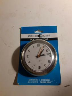 InterDesign Forma Suction Wall Clock for Bathroom or Shower,