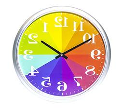 Kids Color Clock, Rainbow Clock, Color Wheel Clock, Wall Clo
