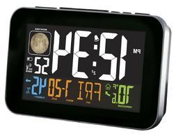La Crosse Technology White Atomic Alarm Clock