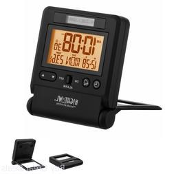 Marathon Atomic Travel Alarm Clock with Auto Back Light Feat