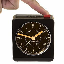 Marathon Silent Non-Ticking Alarm Clock with Warm Amber Auto