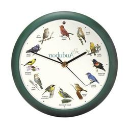 Mark Feldstein & Associates Audubon Singing Bird Clock, 8""