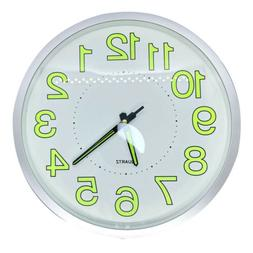"""Modern Wall Clock Silent Non-ticking Battery Operated 12"""" Ro"""