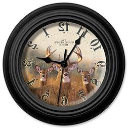 Reflective Art 10in Wall Clock - Buck Stops Here 10""