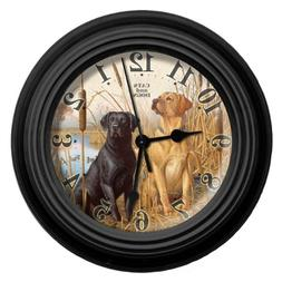 Reflective Art Cats and Dogs Wall Clock, 10-Inch