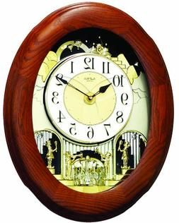 "Rhythm Clocks ""Joyful Nostalgia Oak"" Magic Motion Clock"