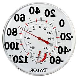 """Taylor 497 12"""" Outdoor Thermometer Temperature/Humidity Gaug"""