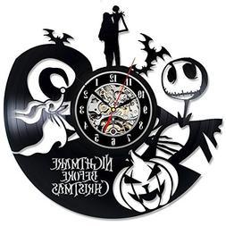 The Nightmare Before Christmas Vinyl Record Wall Clock - Dec