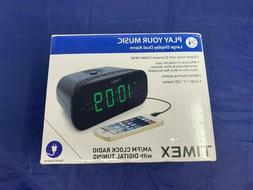 Timex T231GY AM/FM Dual Alarm Clock Radio with 1.2-Inch Red