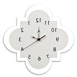 Trend Lab Quatrefoil Wall Clock, Gray