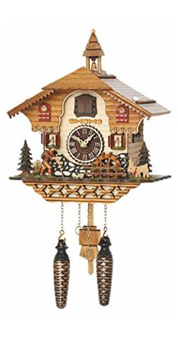Trenkle Quartz Cuckoo Clock Black Forest House with Music, M