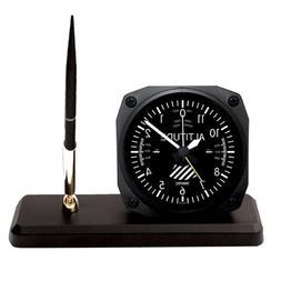 Trintec Altitude Altimeter Desk Pen Set with Alarm Clock Mod
