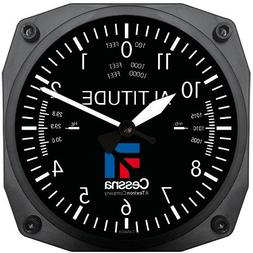 """Trintec Cessna Altimeter Clock 6.5"""" Square with Logo"""
