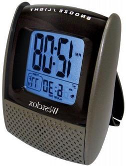 Westclox Digital LCD Travel Alarm Clock with Temperature Dis