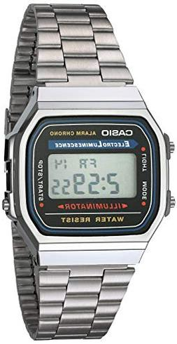 Casio Men's A168WA-1 Electro Luminescence Watch