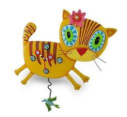 Allen Designs adorable Kimi Kitty Cat pendulum kids wall clo