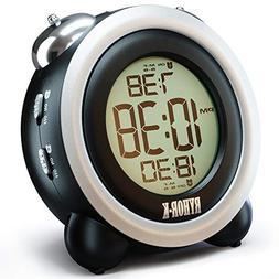 Loud Alarm Clock for Heavy Sleepers - Simple Digital Clock B