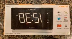 iTOMA Alarm Clock with FM Radio, Dual Alarm, Night Light, Au