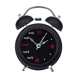 Alarm Clock - Household Retro Alarm Clock Double Bell Round
