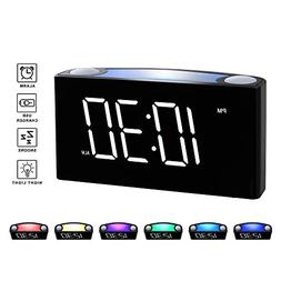 "Rocam Digital Alarm Clock for Bedrooms - Large 6.5"" LED Disp"
