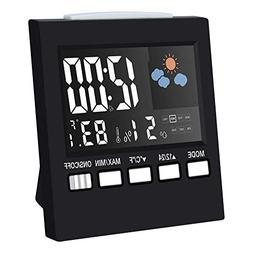 Digital Alarm Clock Led Desk Clock with Date Temperature hum