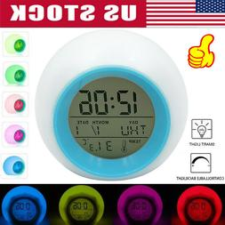 Alarm Clock Digital Backlight LED Display Battery Operated B