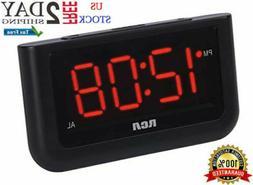 Alarm Clock Digital Loud LED Display Electric Battery Backup
