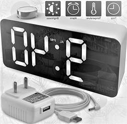 X Ykoki Alarm Clock – Digital Clock LED Display – Time S