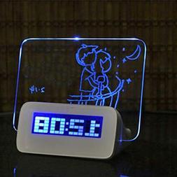 Digital Alarm Clock - Blue Led Fluorescent Digital Alarm Clo