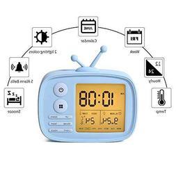 Alarm Clock for Kids Digital Desk Clock Led Snooze Function