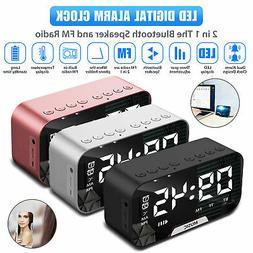 Alarm Clock Large Digital LED Display USB/Battery Operated S