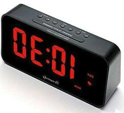"DreamSky 7.3"" Large Alarm Clock Radio with FM Radio and USB"