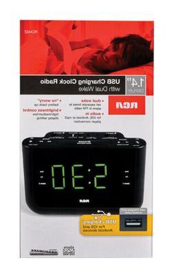 RCA Alarm Clock Radio, Alarm Clock USB Charging, Alarm Clock