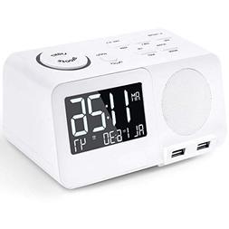 Alarm Clock Radio FM Digital Led Display Radio with USB Port