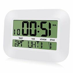 alarm clock slim calendar day