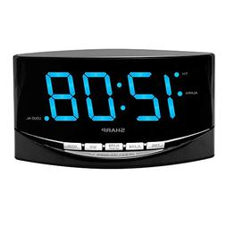 "Sharp Digital Alarm Clock w JUMBO 2"" LED Display & LOUD OPTI"