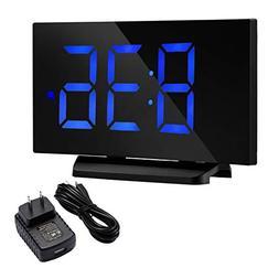 TOPELEK Alarm Clock, 5'' LED Display Digital Alarm Clock wit