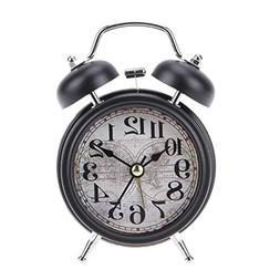 Alarm Clocks - Vintage Alarm Clock With Double Bells Silent