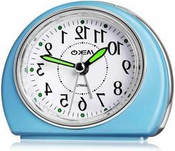 MEKO Alarm Clocks Non-Ticking for Bedrooms, Smart Tickless T