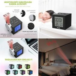 Digital Alarm Clocks Time Projection Ceiling Wall Colorful B