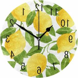 ALAZA Home Decor Watercolor Lemon Fruit Summer 9.5 inch Roun