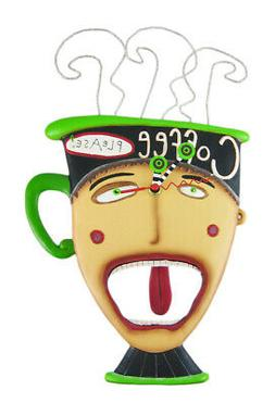 Allen Designs Coffee Please Pendulum Wall Clock