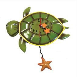 Allen Designs Shelldon Turtle Pendulum Wall Clock