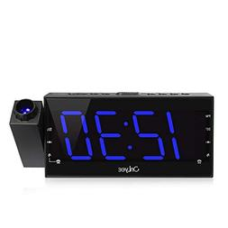 OnLyee Projection Ceiling Wall Clock, AM FM Radio Alarm Cloc