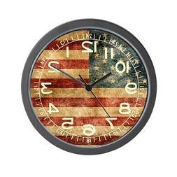 "CafePress - American Flag Grunge - Unique Decorative 10"" Wal"