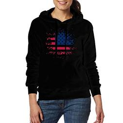 American Independence Paint Women's Sweatshirt Casual Long S
