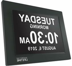 American   Day Clock - Extra Large Impaired Vision Digital C