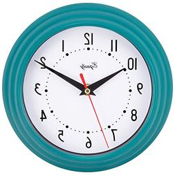 "25020- 8"" Analog Wall Clock Teal Blue"